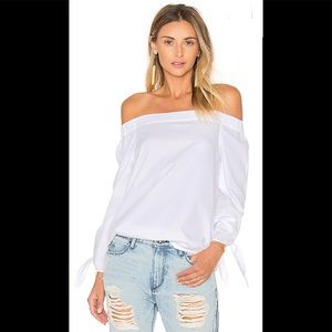 White 'Show me some Shoulder' top